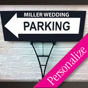 Directional Wedding Parking Sign, Personalized Wedding Sign, Outdoor Sign