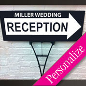 Directional Wedding Reception Sign, Personalized Wedding Sign, Outdoor Sign