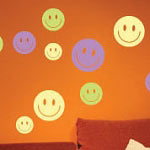 Smiley Faces Vinyl Wall Decal Set