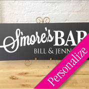 Smore's Bar Table Sign, Personalized Wedding Sign