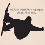 Snowboard Wall Decal Sports Vinyl Wall Art