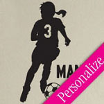 Soccer Girl Vinyl Wall Art, Custom Sports Wall Decal