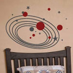 Solar System Wall Decal, Kids Vinyl Wall Art