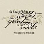 Spent In The Saddle Wall Decal, Equestrian Horse Vinyl Wall Quote