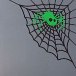 Spider Web Wall Decal, Holiday Halloween Vinyl Wall Art