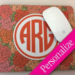 Monogram Mouse Pad, Designer Mousepad, Personalized