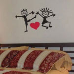 Stick Couple Bedroom Wall Decal, Vinyl Wall Quote