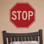 Stop Sign Wall Decal, Street Sign Vinyl Wall Art