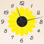 Sunflower Vinyl Wall Decal Clock