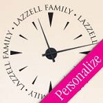 Family Surname Vinyl Wall Decal Clock