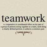 Teamwork Definition Wall Decal, Business Vinyl Wall Art