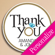 Thank You Wedding Personalized Stickers & Labels, Party Favor Stickers