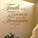 Truth Treasure Bedroom Wall Decal, Vinyl Wall Quote