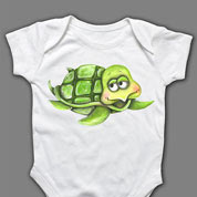Turtle Onesie or T-shirt, Baby Clothes