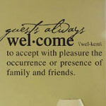 Welcome Definition Wall Decal