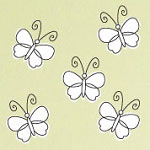 Whimsy Butterfly Animal Wall Decal