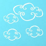 Whimsy Clouds Wall Decal Vinyl Wall Art
