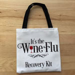 Wine Flu Party Favor Bag Small Tote