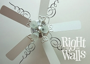 Scroll Ceiling Decal Removable Ceiling Sticker