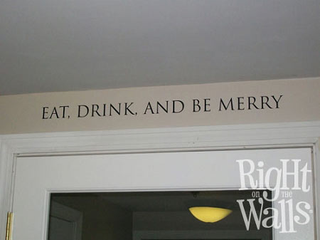 Drink and Be Merry Vinyl Decal Eat