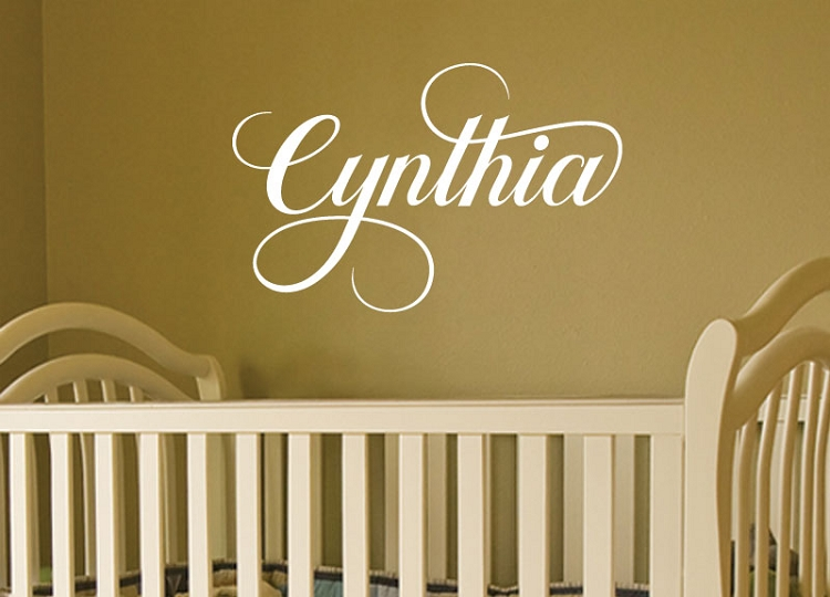 Baby Vinyl Wall Decal Nursery Custom Name Art
