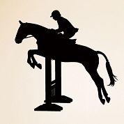 Jumping Horse Wall Decal, Animal Wall Sticker