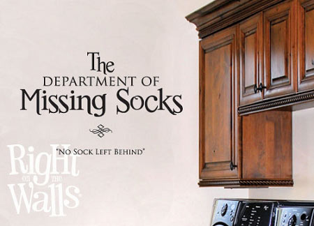 Missing Socks Laundry Wall Decal Click Images To Zoom