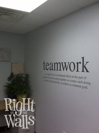 Teamwork Definition Business Wall Decals Vinyl Art Stickers
