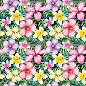 Tropical Flowers Patterned Craft Vinyl 12