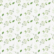 Leaves and Stripes Patterned Craft Vinyl 12