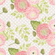 Large Floral with Dots, Craft Vinyl 12