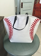 Baseball Large Tote Bag