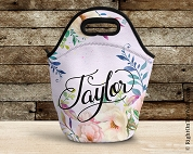 Custom Lunch Bag with Floral Splash