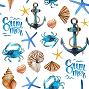 Summer Beach Craft Vinyl Sheet 12