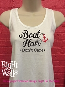 Boat Hair Don't Care Women's Racerback Tank