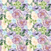 Purple Roses Patterned Craft Vinyl 12