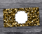 Vinyl Blank License Plate, Craft Blank Vanity Plate Gold Foil