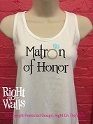 Matron of Honor Racerback Tank Top