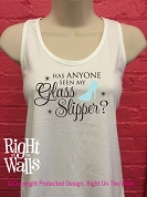 Cinderella Glass Slipper Racerback Tank Top