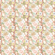 Peach Flower Patterned Craft Vinyl 12