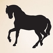 Trotting Horse Wall Decal, Animal Wall Sticker