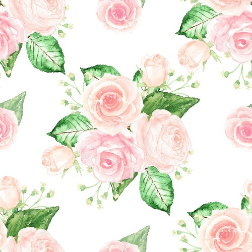 "Pink Floral Repeat, Craft Vinyl 12"" x 12"" Sheet"