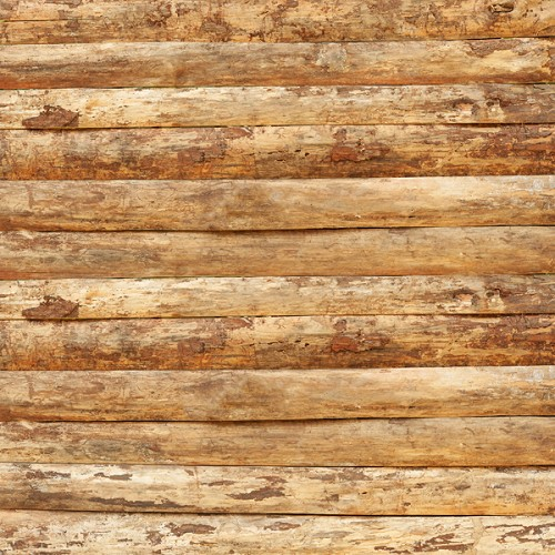"Log Siding Craft Vinyl 12"" x 12"" Sheet"