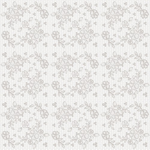 "White Lace Roses Patterned Craft Vinyl 12"" x 12"" Sheet"