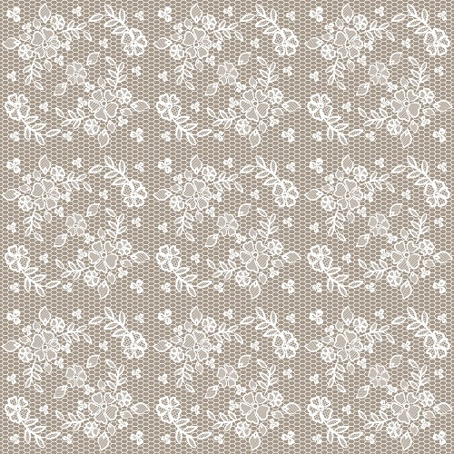 "Shabby Rose Lace Patterned Craft Vinyl 12"" x 12"" Sheet"