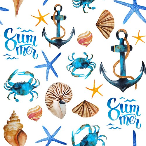 "Summer Beach Craft Vinyl Sheet 12"" x 12"""