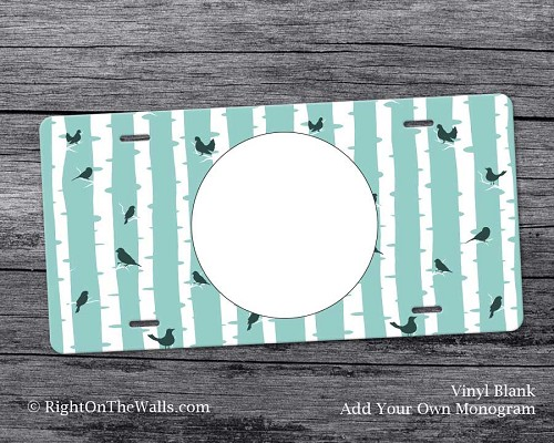 Vinyl Blank License Plate, Craft Blank Vanity Plate