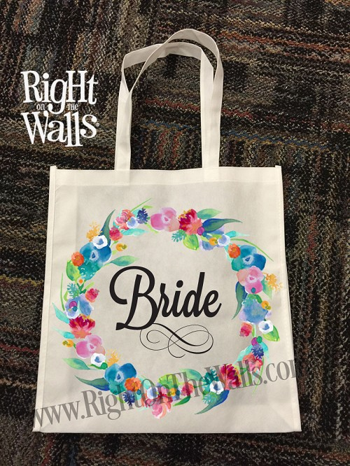 Wedding Large Tote Bag Wildflowers
