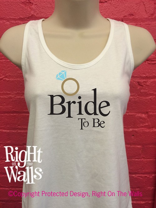 Bride To Be Racerback Tank Top