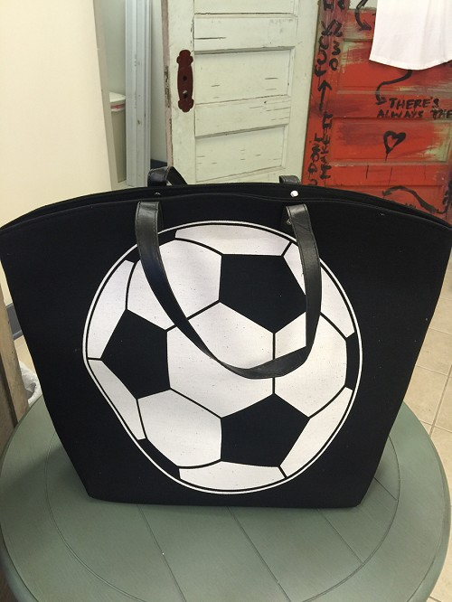 Soccer Large Tote Bag